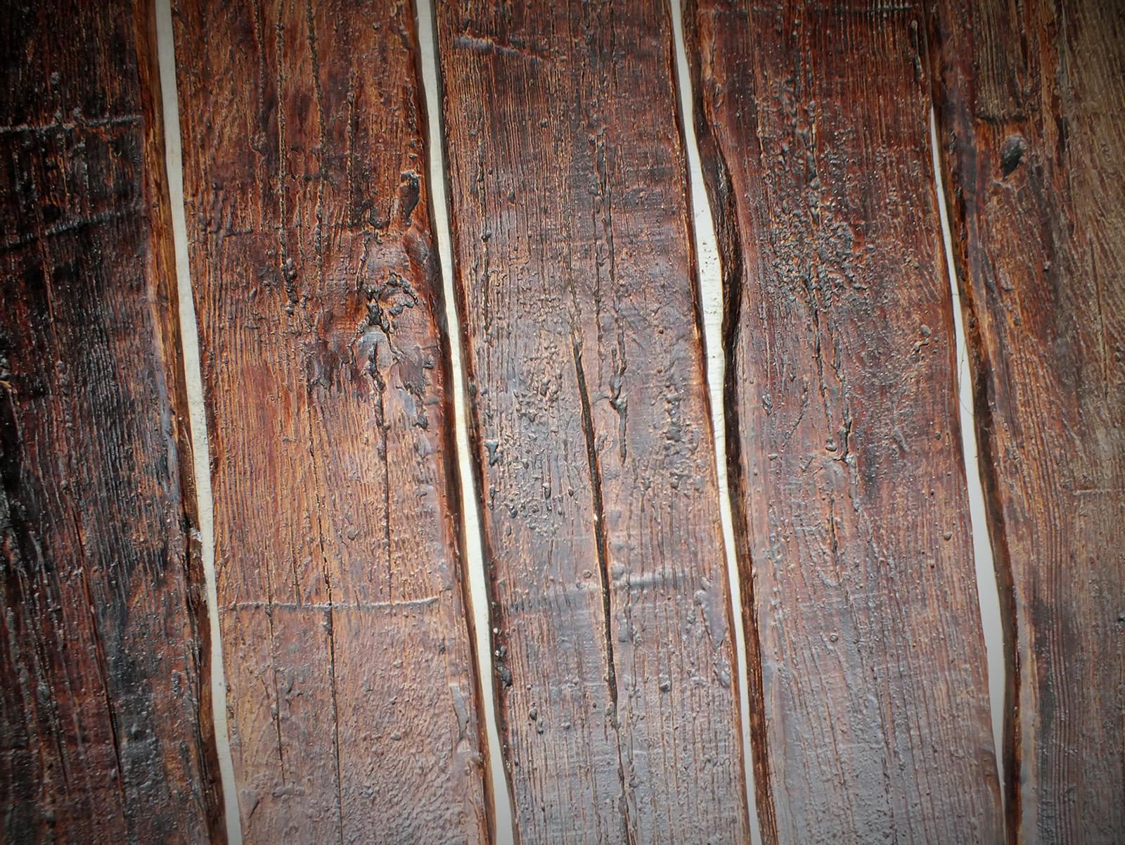 False oak wall planks