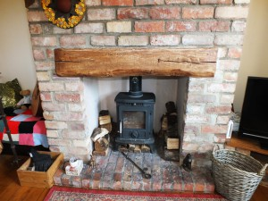 Fire place beam